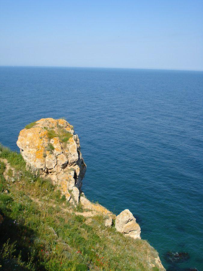 Stânci la Marea Neagă