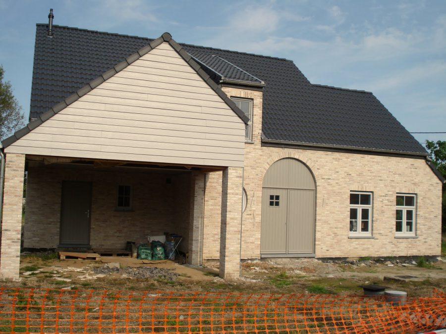 Casă in construcție în Belgia