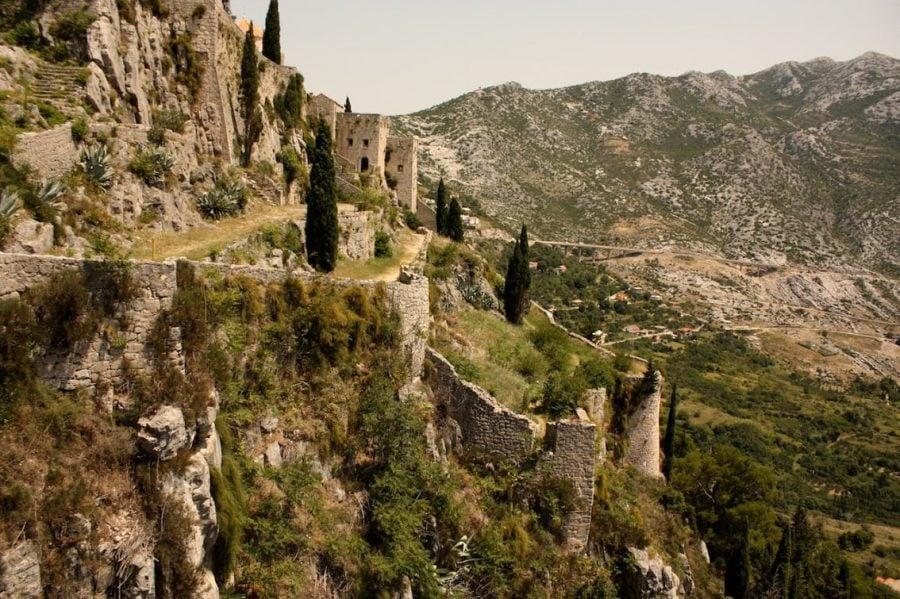 Panoramă din fortăreața Klis, Croația