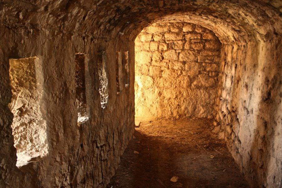 Tunel în fortăreața Klis, Croația