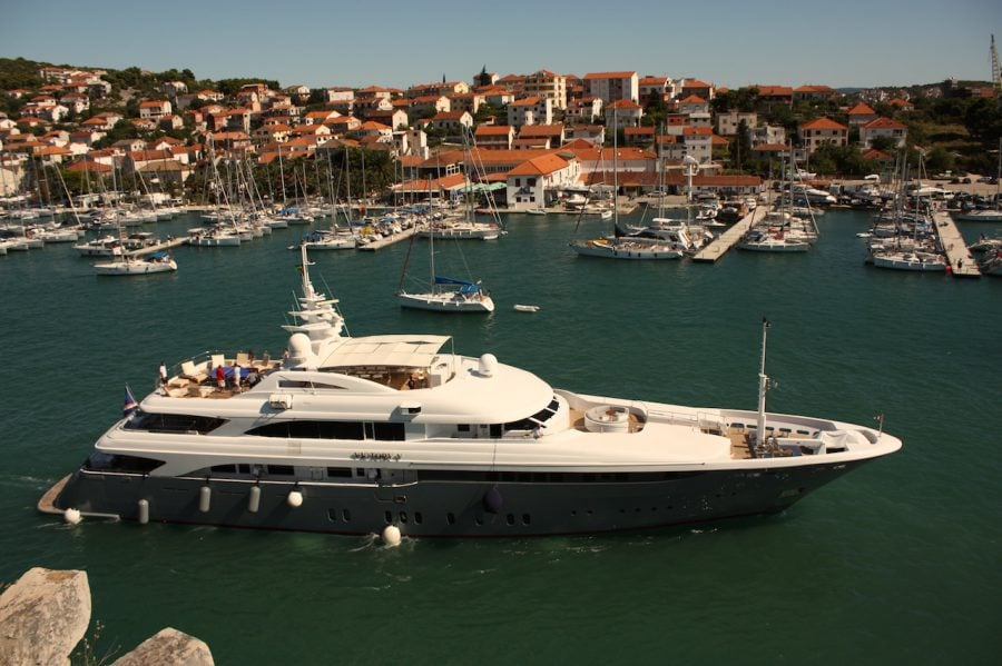 Yacht de lux în Trogir, Croația