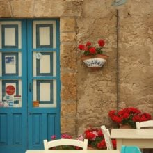 Casă tradițională în Marzamemi, Sicilia, Italia