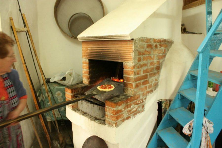 Cuptor de pizza în Pachino, sudul Siciliei