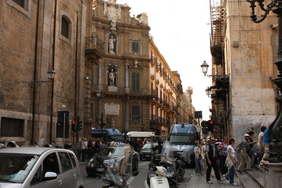Piața Quattro Canti în Palermo