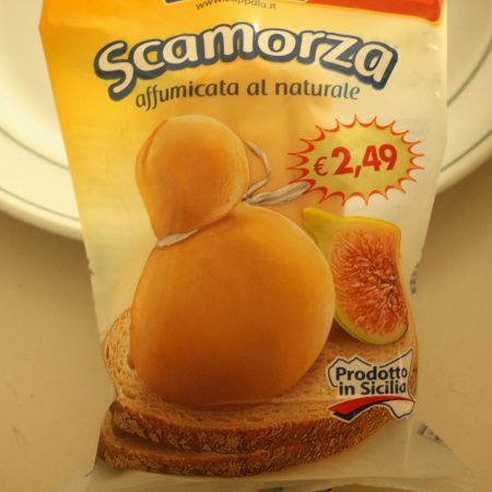 Scamorza (some sort of smoked cheese) (Marineo)