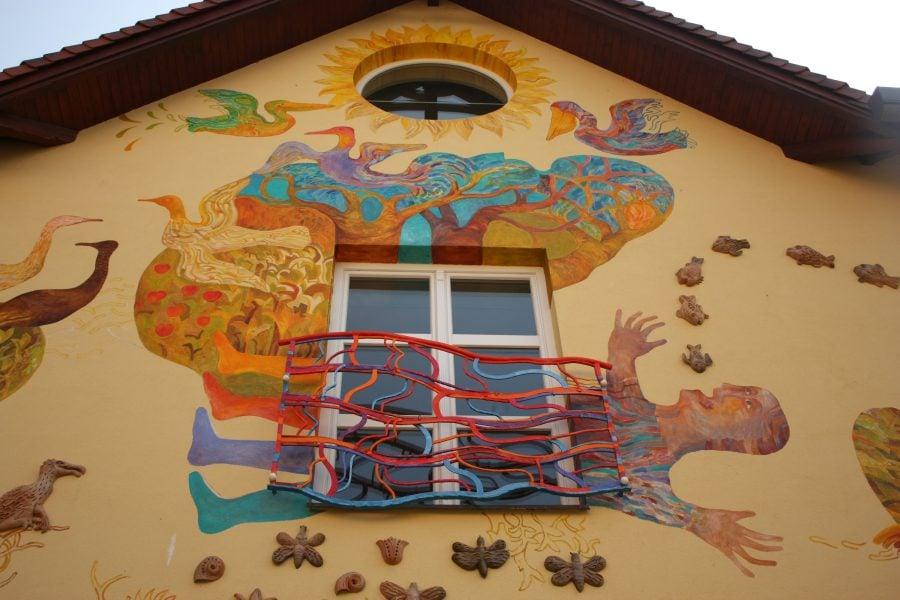 Casă pictată în Rajecke Teplice, Slovacia