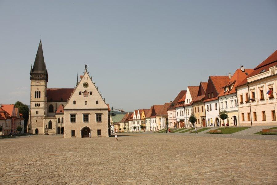 Piața centrală din Bardejov, Slovacia