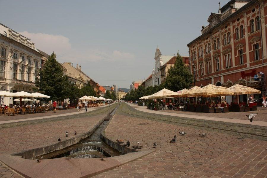 Piața centrală în Kosice, Slovacia
