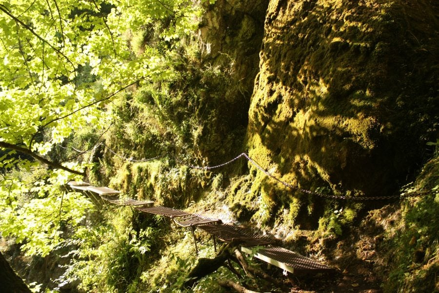 Prielom Hornadu, traseu cu lanțuri în rezervația Slovensky Raj