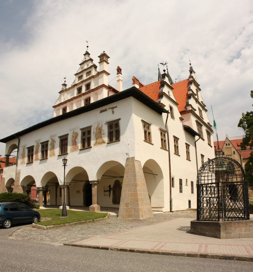 Primăria și cușca infamiei, Levoca, Slovacia