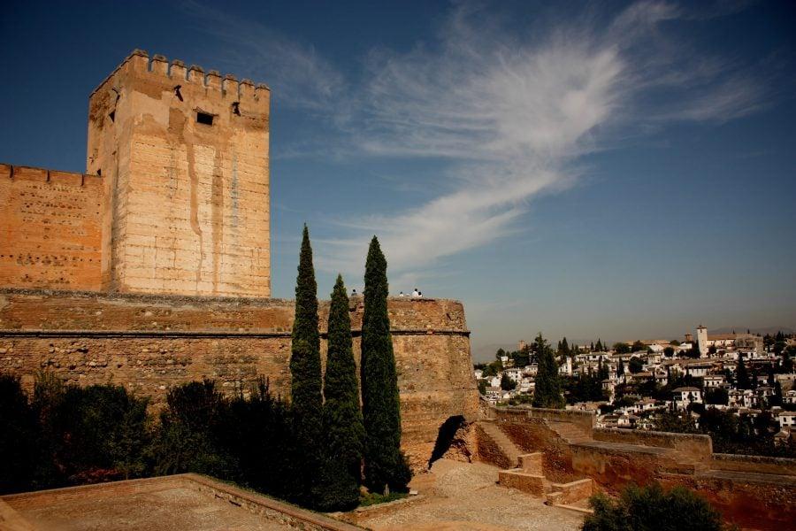 Alcazaba, din Alhambra, Granada, Spania