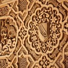 Arabescuri în Alhambra, Granada, Spania