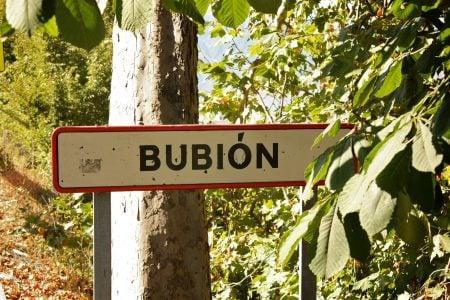 Intrarea în pe poteca veche Bubion, Spania