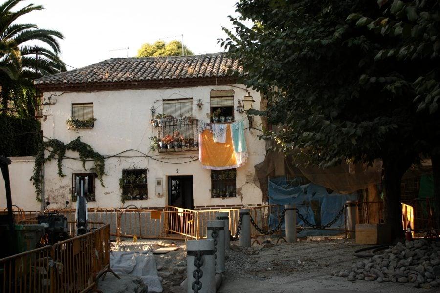 Lucrari de amenajare in Albaicin, Granada, Andaluzia