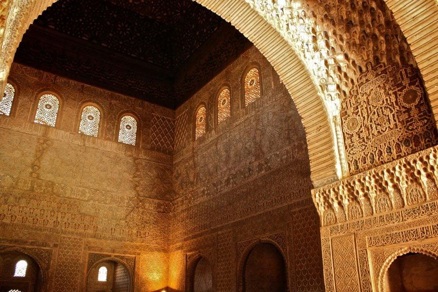 Sala Ambasadorilor, palatul Nasrid, Alhambra, Granada, Spania