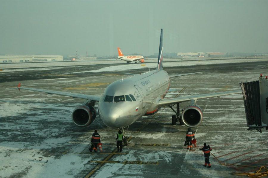 Nava Aeroflot pentru zbor Praga - Moscova