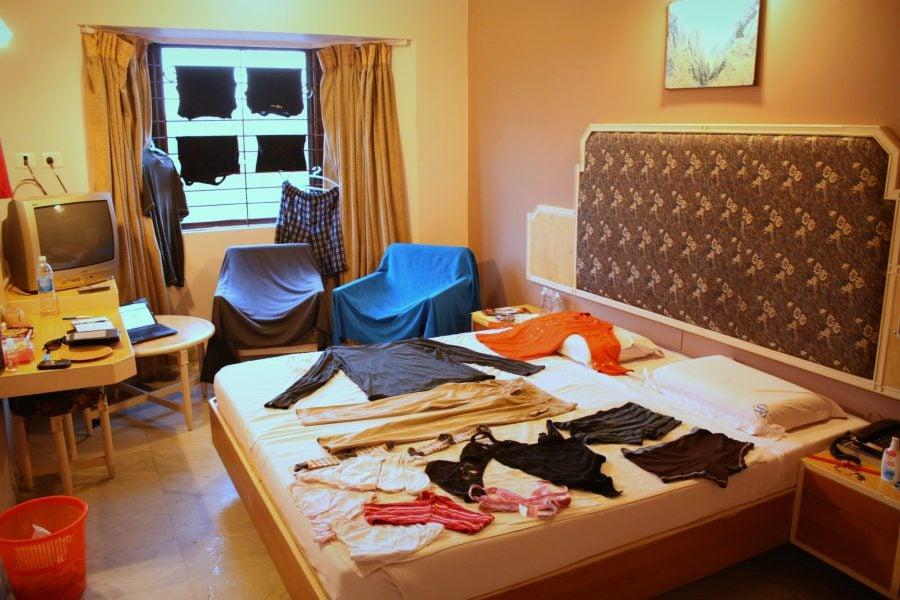 Camera de hotel la frumosul Saratha Rajans (wifi inclus!), Madurai, Tamil Nadu, India