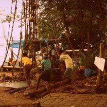 Pescari și năvoade chinezești, Fort Kochi, Kerala, India