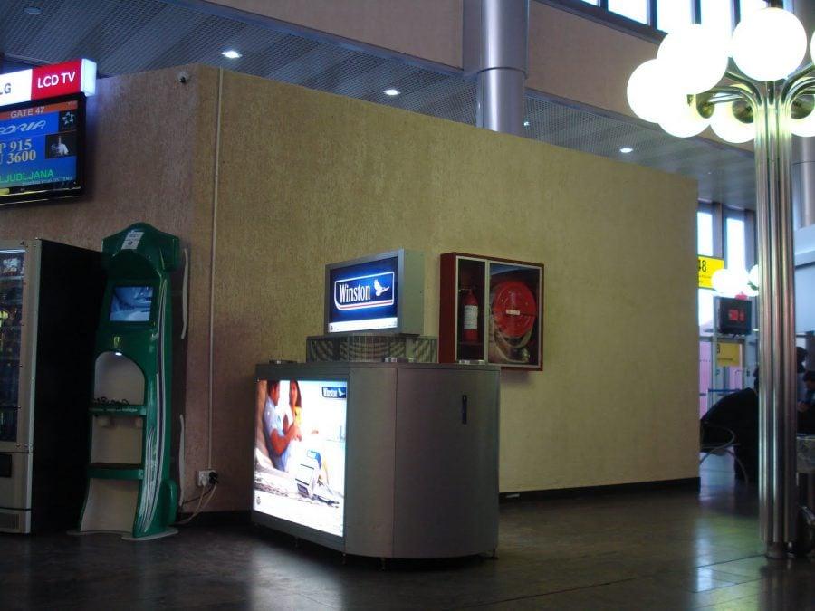 Ventilator pentru fumători pe aeroportul Sheremetyevo din Moscova