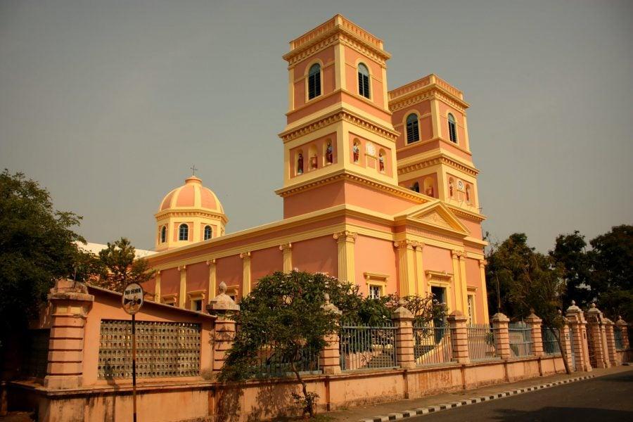 Biserica Notre-Dame des Anges, Pondicherry (Puducherry), Tamil Nadu, India