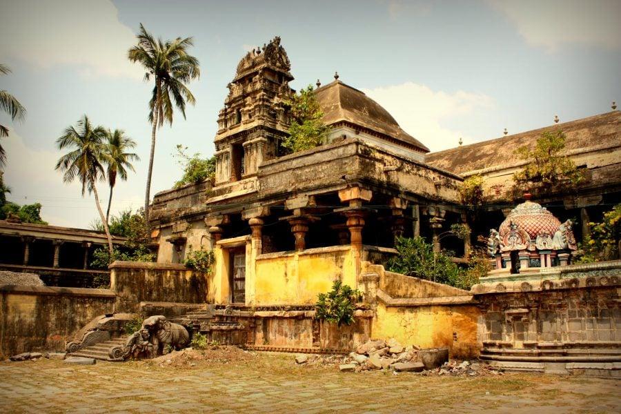 Curtea interioară a templul Nataraja, Chidambaram, Tamil Nadu, India