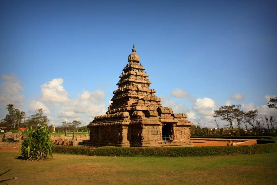 Templul de pe țărm, Mamallapuram, Tamil Nadu, India