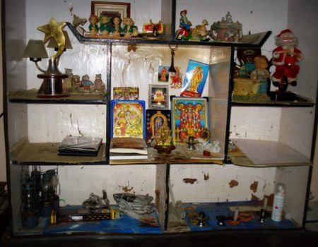 Altarul de la receptie, Dream Nest Heritage, Alleppey (Alappuzha), Kerala, India