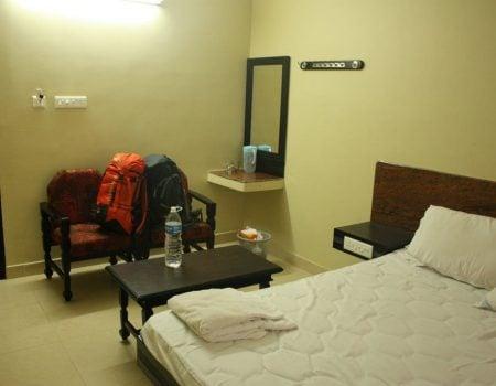 Camera dubla la Hotel Sri Maniya, Kanyakumari, Tamil Nadu, India