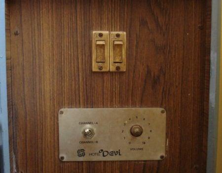 Jegosul Hotel Sri Devi (Sree Devi) - panou control ventilator, Madurai, Tamil Nadu, India