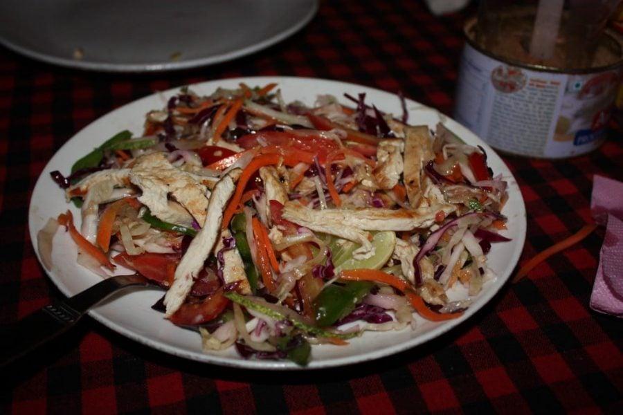 Un Chicken Julian (Julien) Salad european, Tamil Nadu, India