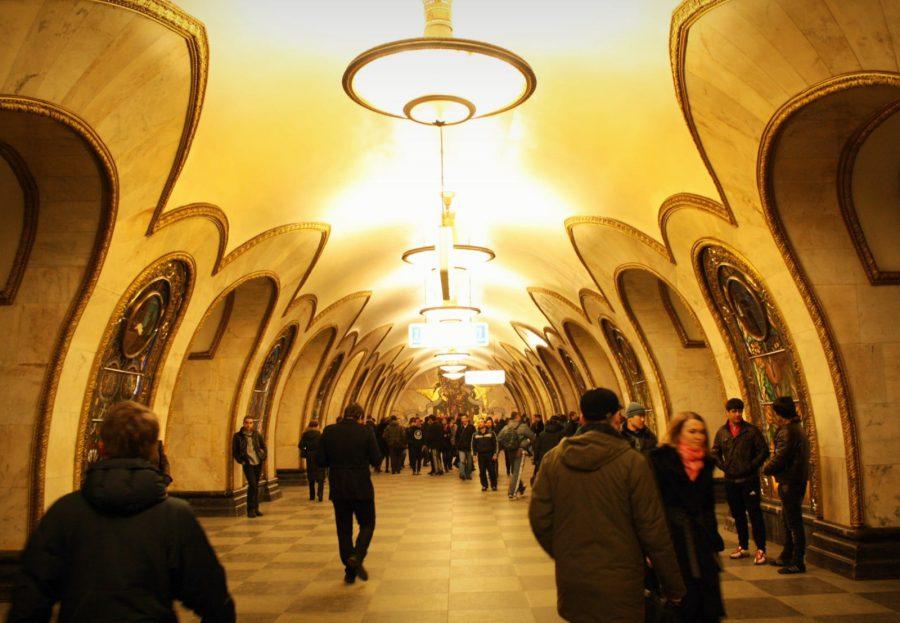 Arcade stația Novoslobodskaya, metroul din Moscova