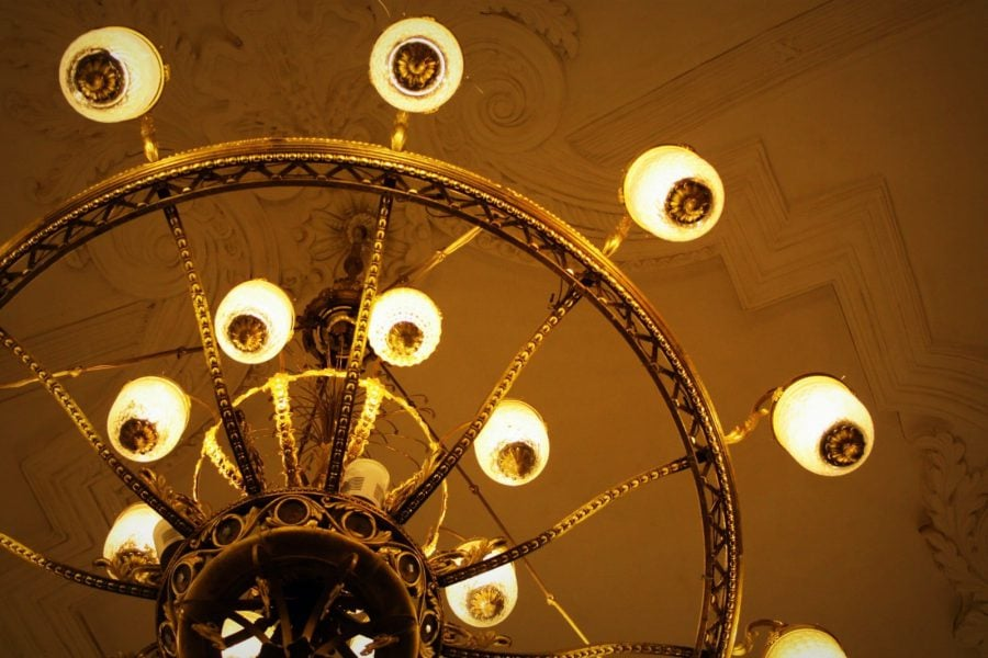 Detaliu candrelabru în stația Komsomolskaya, Moscova