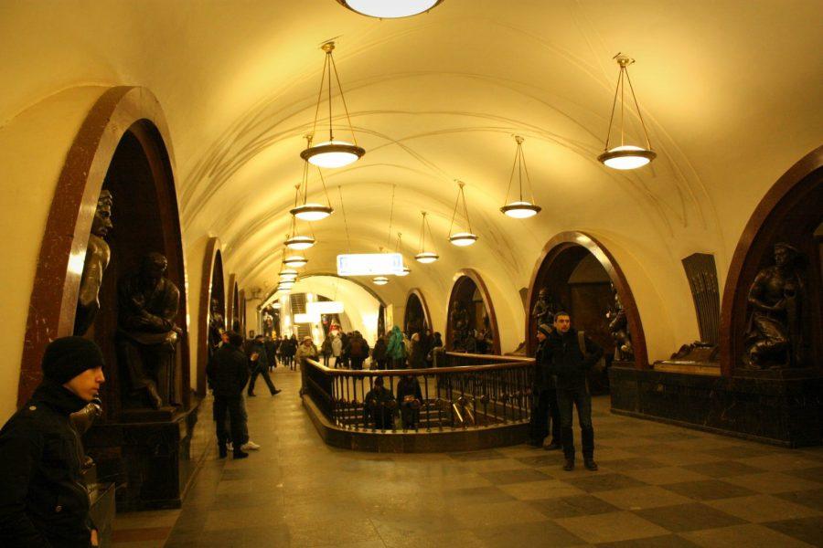 Stația Ploschad Revolutsii, metrou Moscova