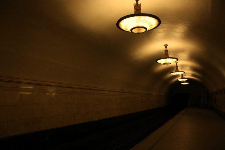Tunel stația Novoslobodskaya, metrou Moscova