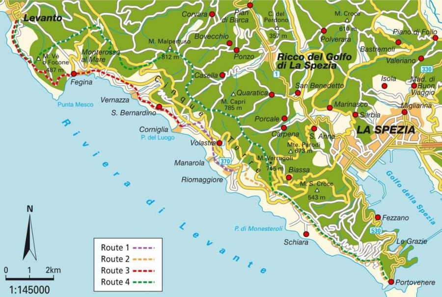 Harta Cinque Terre