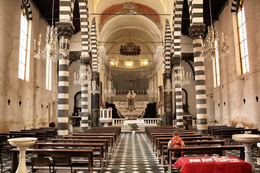Biserica in Monterosso al Mare, Cinque Terre, italia