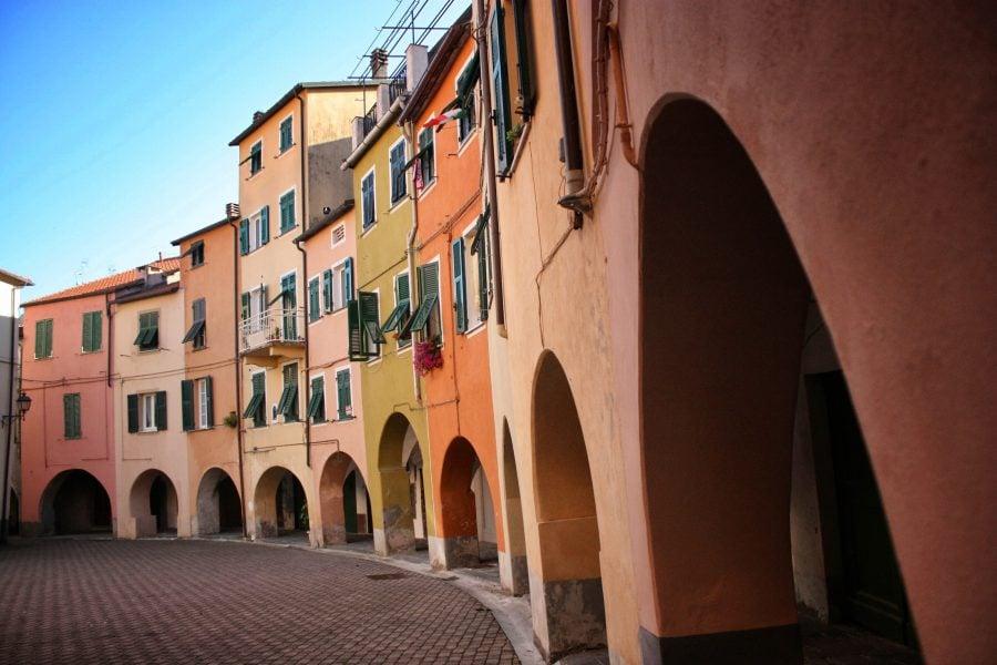 Piață în Verse Ligure, Italia