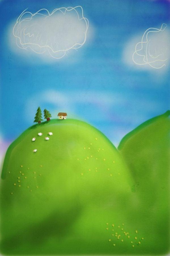 Desen - căsuță pe deal