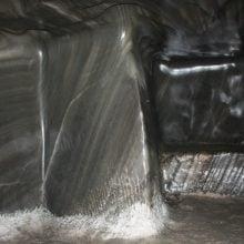 Pereți de sare șlefuiți, salina Turda