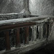 Sare depusă pe balustradă Salina Turda