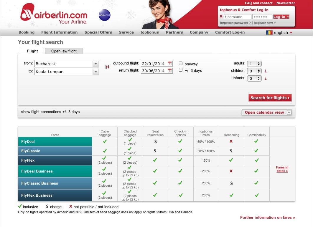 Air Berlin cautare zbor