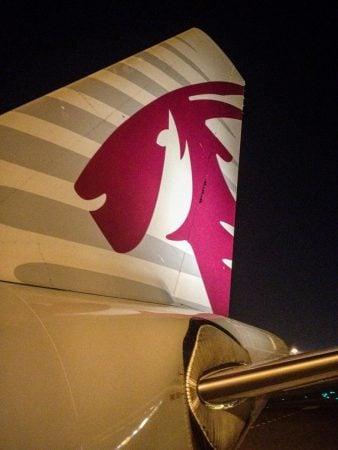 Aripă spate avion Qatar