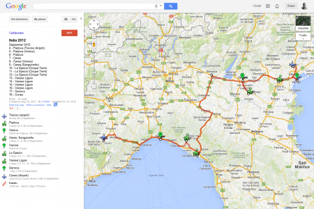 my places in google maps