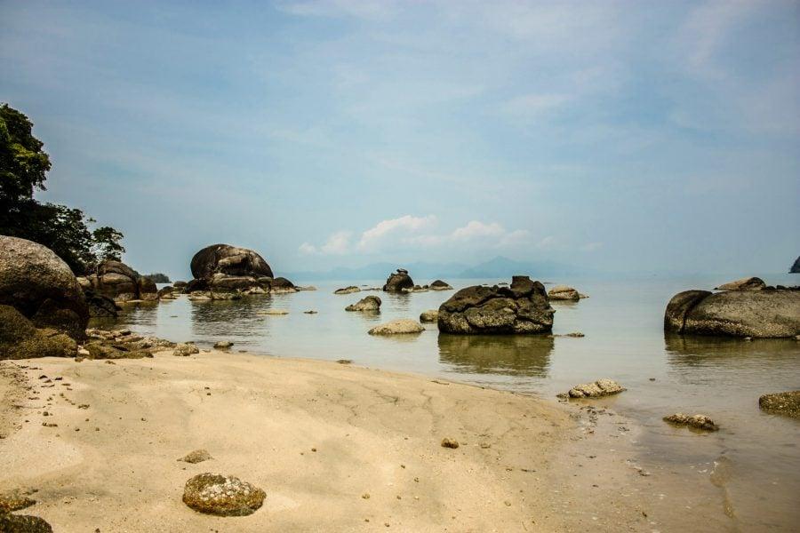 Black Sand Beach, Langkawi, Malaezia