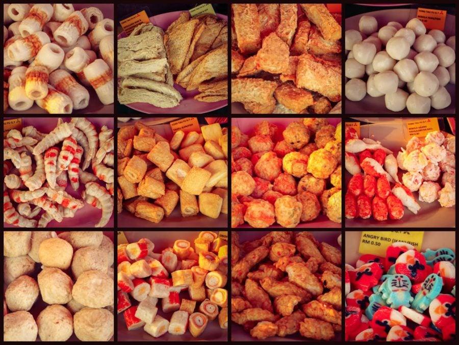 Preparate din pește în piața de noapte din Langkawi