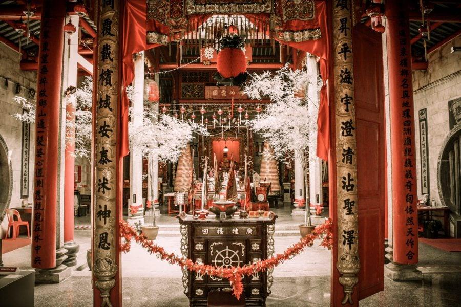Interior templu chinezesc Georgetown