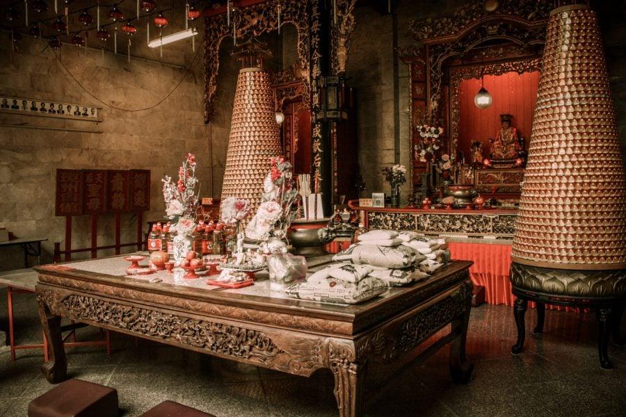 Interior templu chinezesc Penang