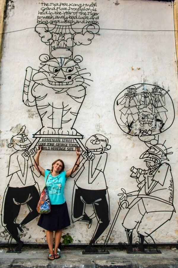 Penang Street Art - Artă din fier forjat