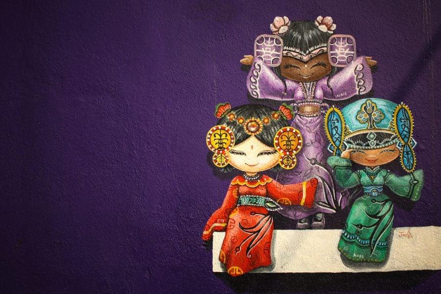 Penang Street Art - Fete draguţe