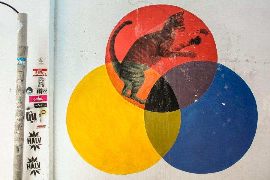Penang Street Art - Şoarecele şi pisica